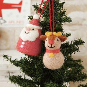 聖誕老人與馴鹿吊飾材料包