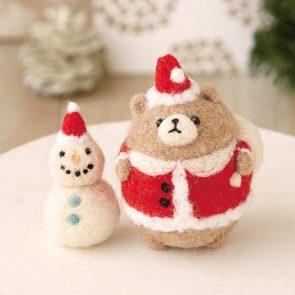聖誕小熊與雪人材料包