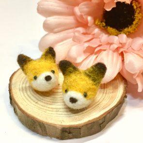 豆點動物耳環 – 狐狸