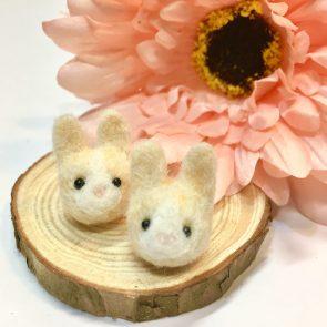 豆點動物耳環 – 米兔