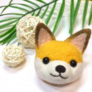 動物頭心口針 – 狐狸
