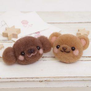 玩具貴婦狗與小熊材料包