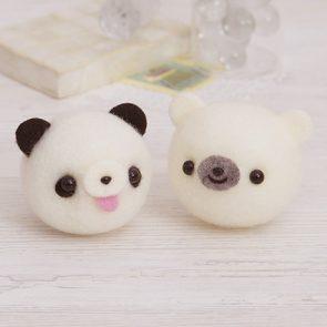 熊貓與北極熊材料包