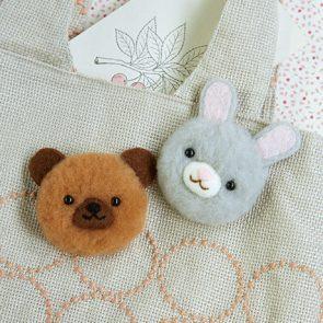 PomPom球熊仔與灰兔材料包