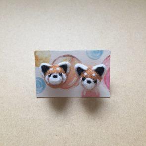 豆點動物耳環 – 小熊貓