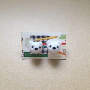 豆點動物耳環 – 北極熊