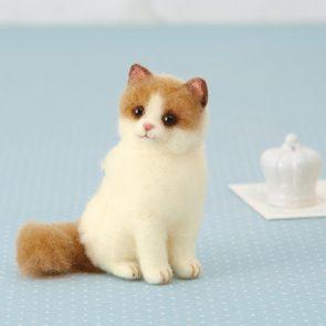 可愛簡易布偶貓材料包