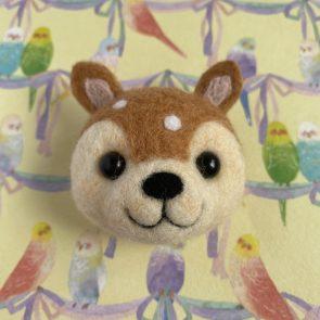 動物頭心口針 – 梅花鹿