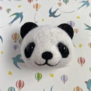 動物頭心口針 – 熊貓