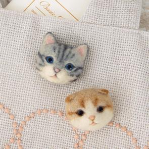 美國短毛貓與摺耳貓心口針材料包
